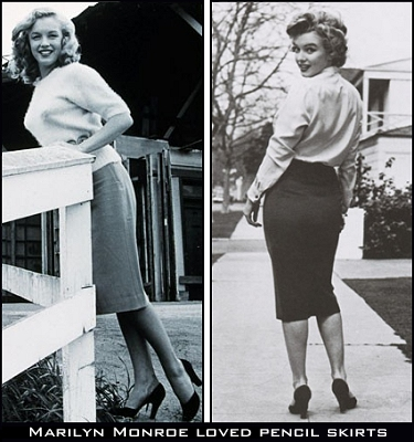 Marilyn Monroe Pencil Skirts